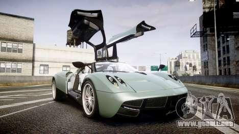 Pagani Hauyra para GTA 4 vista lateral