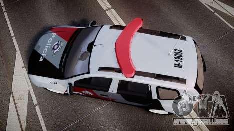 Lada Duster 2015 PMESP [ELS] para GTA 4 visión correcta