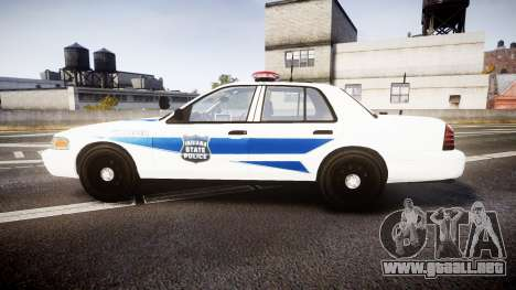 Ford Crown Victoria Indiana State Police [ELS] para GTA 4 left