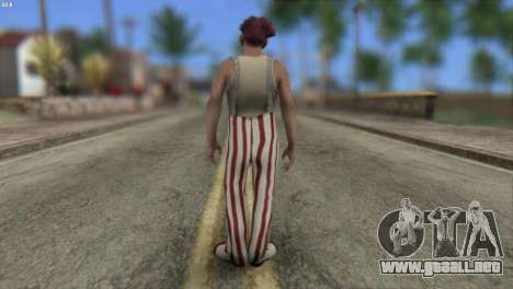 Clown Skin from Left 4 Dead 2 para GTA San Andreas segunda pantalla