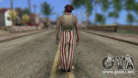 Clown Skin from Left 4 Dead 2 para GTA San Andreas segunda pantalla