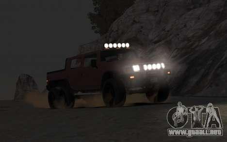 Mammoth Patriot 6x6 para GTA 4 visión correcta
