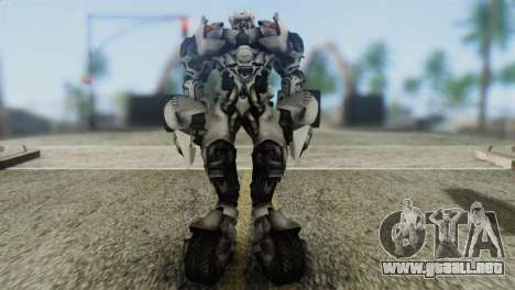 Sideswipe Skin from Transformers v2 para GTA San Andreas segunda pantalla