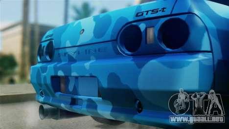 Nissan Skyline R32 Camo Drift para GTA San Andreas vista hacia atrás