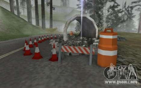 La reparación de los caminos para GTA San Andreas segunda pantalla