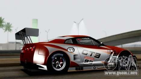 Nissan GT-R (R35) GT3 2012 PJ3 para GTA San Andreas left