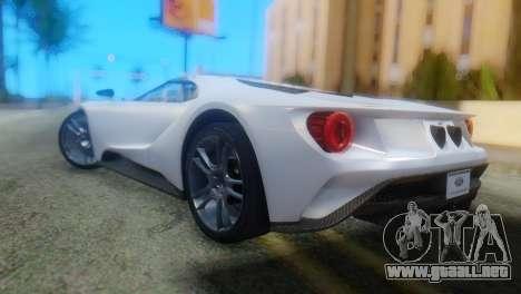 Ford GT 2017 para GTA San Andreas left