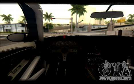 Nissan 180SX para GTA San Andreas vista hacia atrás