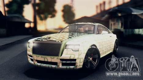 GTA 5 Enus Windsor IVF para la vista superior GTA San Andreas