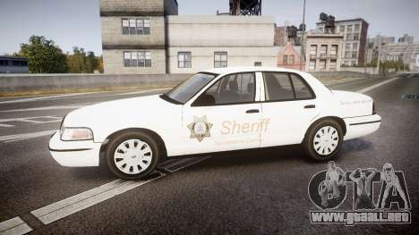 Ford Crown Victoria Sacramento Sheriff [ELS] para GTA 4 left