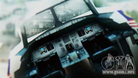 Airbus A320-200 AirAsia Line para GTA San Andreas vista hacia atrás
