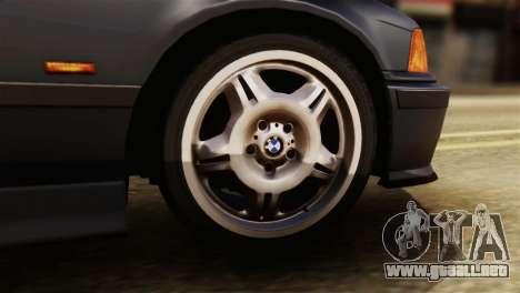 BMW 320i para GTA San Andreas vista posterior izquierda