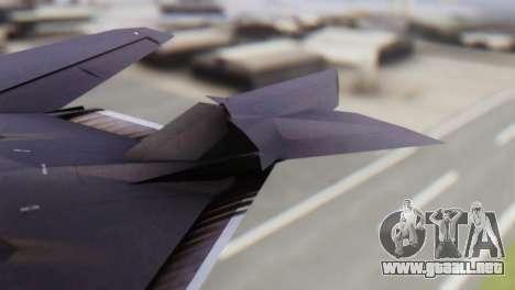 Lockheed F-117 Nighthawk ACAH para GTA San Andreas vista posterior izquierda