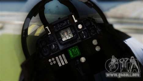 F-14A Tomcat VF-21 Freelancers para GTA San Andreas vista hacia atrás