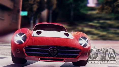 GTA 5 Benefactor Stirling GT para GTA San Andreas vista posterior izquierda