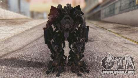 Ironhide Skin from Transformers v3 para GTA San Andreas segunda pantalla