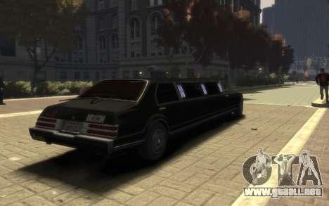 Albany Esperanto Limousine para GTA 4 left