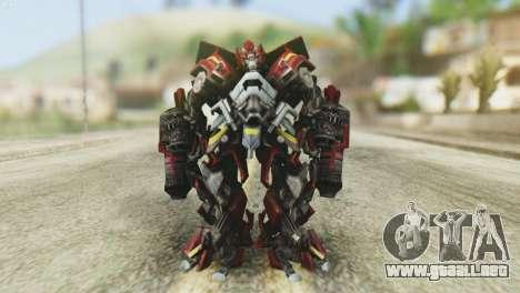 Ironhide Skin from Transformers v1 para GTA San Andreas segunda pantalla