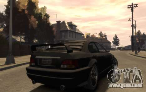 La supremacía de la Centinela (XS) de 4 puertas para GTA 4 vista hacia atrás