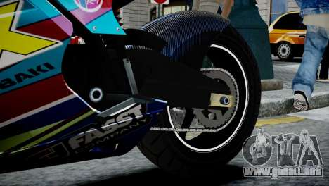 Bike Bati 2 HD Skin 2 para GTA 4 vista hacia atrás