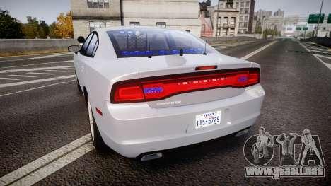 Dodge Charger Traffic Patrol Unit [ELS] bl para GTA 4 Vista posterior izquierda