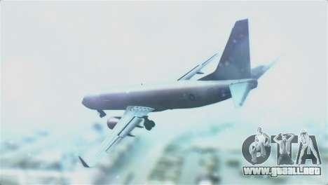 Boeing 737-800 Royal Air Force para GTA San Andreas left