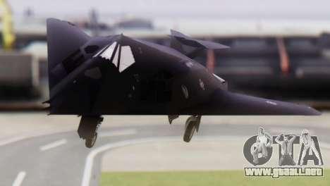 Lockheed F-117 Nighthawk ACAH para GTA San Andreas vista hacia atrás