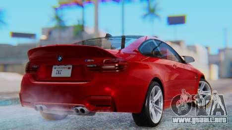 BMW M4 2015 HQLM para GTA San Andreas left
