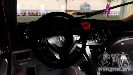 Acura TSX Hellaflush 2010 para la visión correcta GTA San Andreas