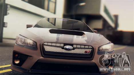Subaru Impreza WRX STI 2015 para GTA San Andreas vista posterior izquierda