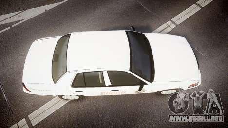 Ford Crown Victoria Sacramento Sheriff [ELS] para GTA 4 visión correcta