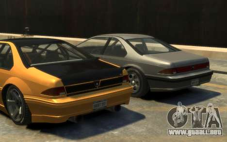 Vapid Fortune Drift para GTA 4 vista hacia atrás