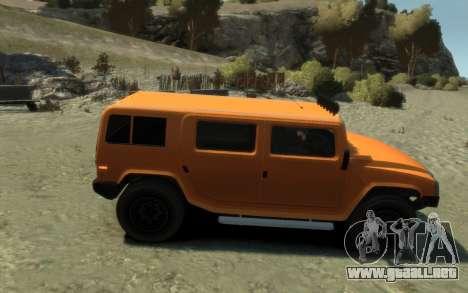 Mammoth Patriot Pickup para GTA 4 visión correcta