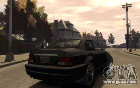 La supremacía de la Centinela (XS) de 4 puertas para GTA 4 visión correcta