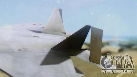 F-15DJ (E) JASDF Aggressor 32-8081 para GTA San Andreas vista posterior izquierda