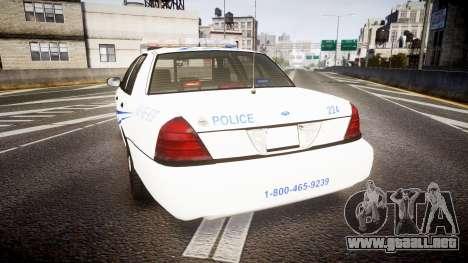 Ford Crown Victoria CNPS [ELS] para GTA 4 Vista posterior izquierda