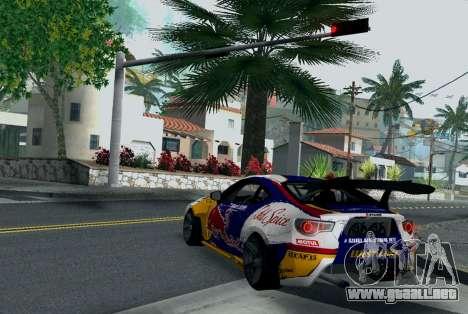 Toyota GT86 Red Bull para GTA San Andreas vista posterior izquierda