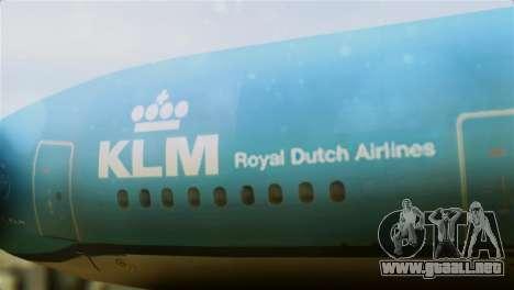Airbus A330-200 KLM New Livery para GTA San Andreas vista hacia atrás