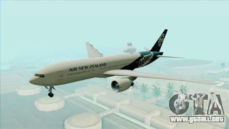 B777-200ER Air New Zealand Black Tail Livery para GTA San Andreas