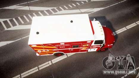Freightliner M2 2014 Ambulance [ELS] para GTA 4 visión correcta