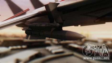 F-14D Tomcat Macross Red para la visión correcta GTA San Andreas