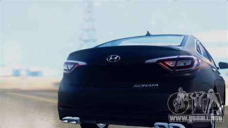 Hyundai Sonata 2015 para la visión correcta GTA San Andreas