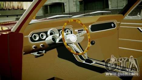 Ford Mustang 1965 para GTA 4 vista hacia atrás