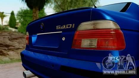 BMW 540i E39 para GTA San Andreas vista hacia atrás