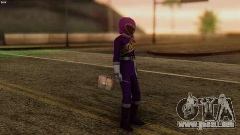 Power Rangers Skin 7 para GTA San Andreas tercera pantalla