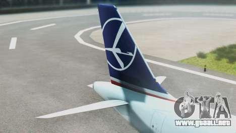 LOT Polish Airlines Boeing 747-400 para GTA San Andreas vista posterior izquierda