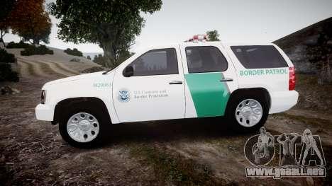Chevrolet Tahoe Border Patrol [ELS] para GTA 4 left