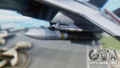 F-14D Super Tomcat Polish Navy para la visión correcta GTA San Andreas