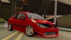 Peugeot 206 SD Coupe Tuning para GTA San Andreas