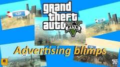 La publicidad de los dirigibles para GTA San Andreas